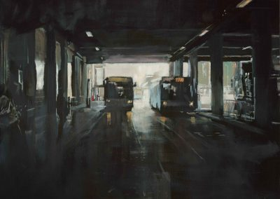 Tunnel Cergy - October 2014 • Oil on linen • 120 x 120 cm