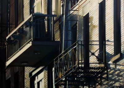 Two Balconies - Sept. 2011 • Oil on canvas • 120 x 100 cm