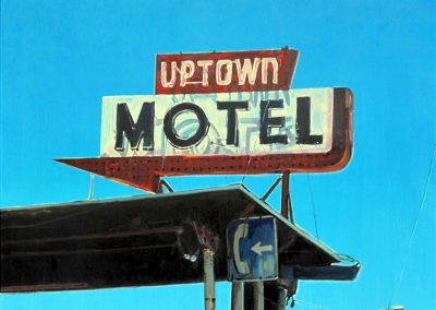 Uptown motel - Dec. 2012 • Oil on canvas • 100 x 70 cm