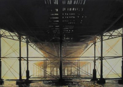 Vessel Pier - Jun. 2013 • Oil on canvas • 80 x 120 cm