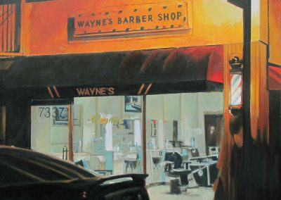 Wayne's Barbershop - Jun. 2012 • Oil on canvas • 120 x 100 cm