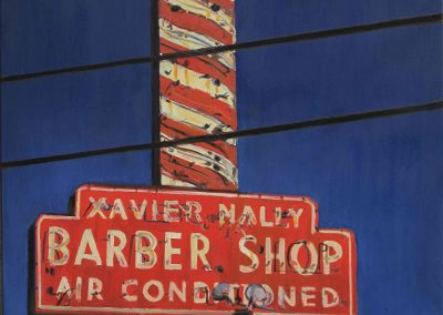 Xavier Nally Barbershop - Jun. 2012 • Oil on canvas • 100 x 120 cm