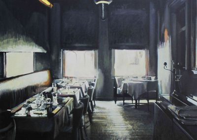 Zarza's Restaurant - Jul. 2013 • Oil on canvas • 100 x 100 cm