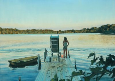 Agnes's Pontoon - 2017 • Oil on canvas • 120 x 80