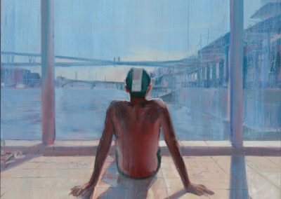 Bathing Cap - 2017 • Oil on canvas • 100 x 100 • Available