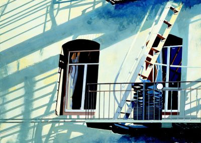 Blue-Green Building New York - 1988 • Oil on canvas