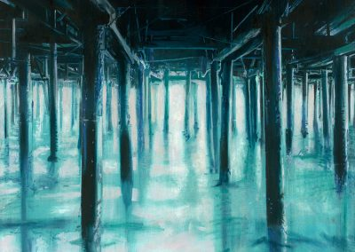 Blue Pier XL - 2016 • Oil on canvas • 140 x 140
