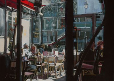 Café Beaubourg - 2017 • Oil on canvas • 100 x 100