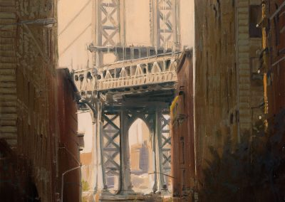 Dumbo Manhattan Bridge - 2017 • Oil on canvas • 89 x 130