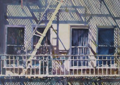 New York Shadows - 1989 • Oil on canvas • 122 x 60