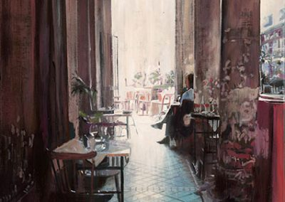 Paris Café - 2016 • Oil on canvas • 100 x 100