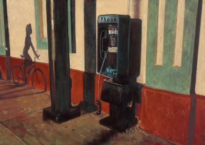 Phone Box - 2017 • Oil on canvas • 146 x 97 • Available