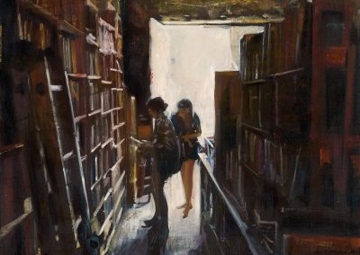 Port Rhu Library - 2016 • Oil on canvas • 100 x 100