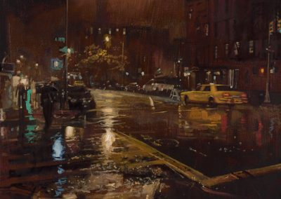 Rainy Cab - 2018 • Oil on canvas • 97 x 130 • Available