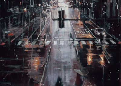 Rainy Crosswalk - 2018 • Oil on canvas • 116 x 89 • Available