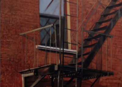 Red Fire Escape - 2016 • Oil on canvas • 100 x 81 • Available