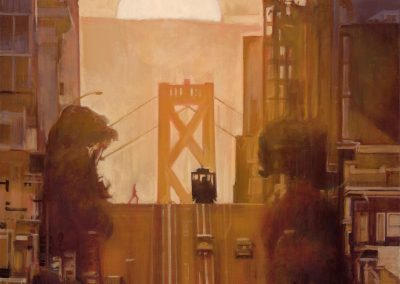 SF Hill Tram - 2018 • Oil on canvas • 100 x 100 • Available