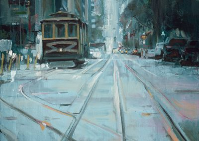SF Tram - 2017 • Oil on canvas • 116 x 89
