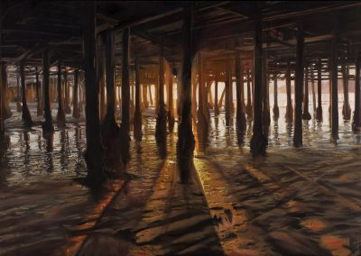 Sunset Pier - 2014 • Oil on canvas • 162 x 114