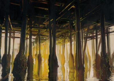Yellow Pier - 2017 • Oil on canvas • 130 x 130 • Available